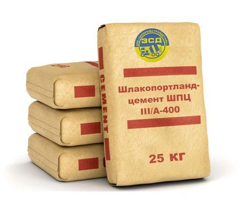 Шлакопортландцемент ШПЦ ІІІ/А-400 тара25 кг